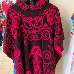 Medics Our Lady of Guadalupe Poncho Hot Pink